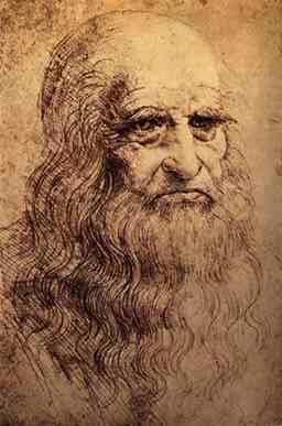 Леонардо ди сер Пьеро да Винчи (итал. Leonardo di ser Piero da Vinci, кратко - Леонардо да Винчи). Предположительный автопортрет Леонардо да Винчи
