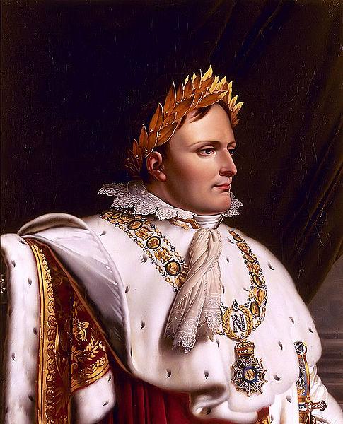 Наполеон I Бонапарт в полном императорском облачении