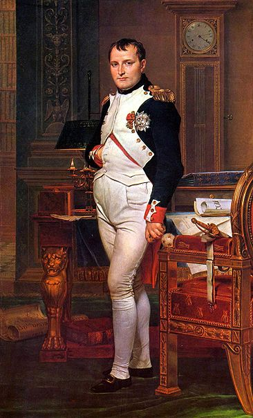 Император Наполеон в своем кабинете в Тюильри. Жак Луи Давид (1812)