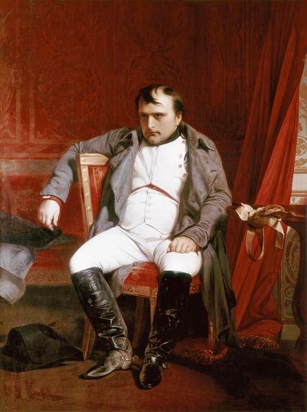 Наполеон Бонапарт после отречения во дворце Фонтенбло Поль Деларош