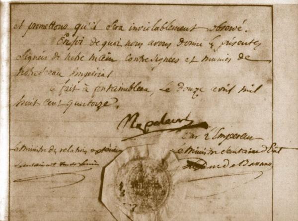 Первый акт отречения от престола, 12 апреля 1814 года