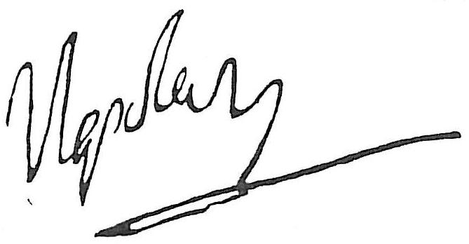 Автограф, Наполеон I Бонапарт