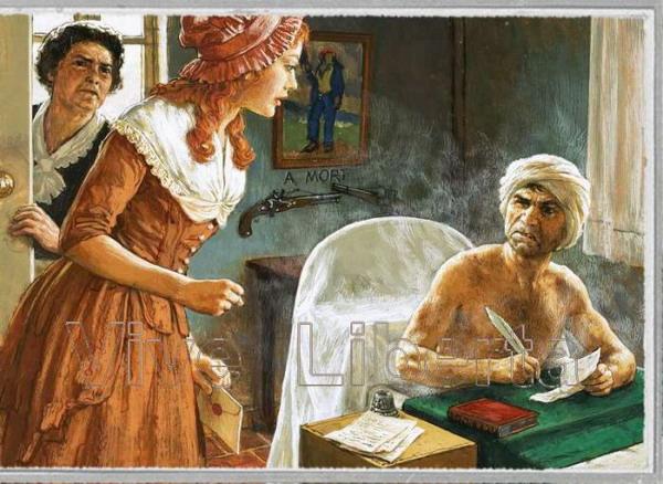 Жан-Поль и Альбертина Марат и Анна-Мария Корде. Фрагмент комикса.
