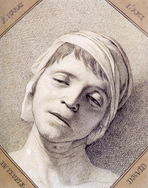 Жак Луи Давид. Голова мертвого Марата. Национальный музей Версаля. 1793