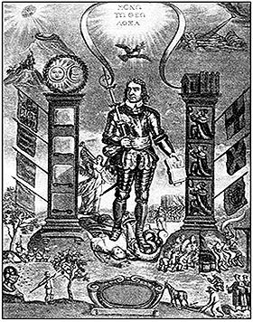 Апофеоз Кромвеля. Гравюра XVII в.