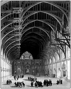 Зал в Вестминстере, где заседал Парламент во времена Републики и Протектората