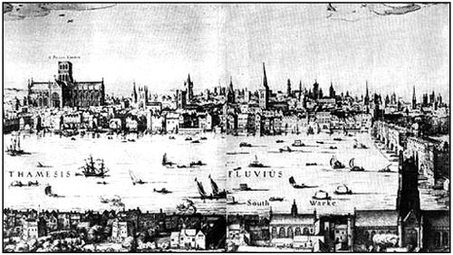 Лондон во времена Мильтона. Гравюра XVII в.