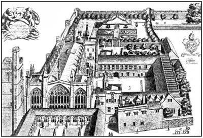 Один из Кембриджских колледжей. Гравюра XVII в.