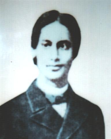 Тагор в 1879, когда он учится в Англии