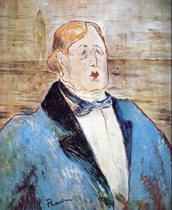 Тулуз-Лотрек (De Toulouse-Lautrec) Анри Мари Раймо: Оскар Уайльд (Портрет).