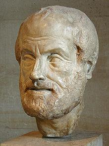 Скульптура головы Аристотеля — работа Лисиппа, Лувр.