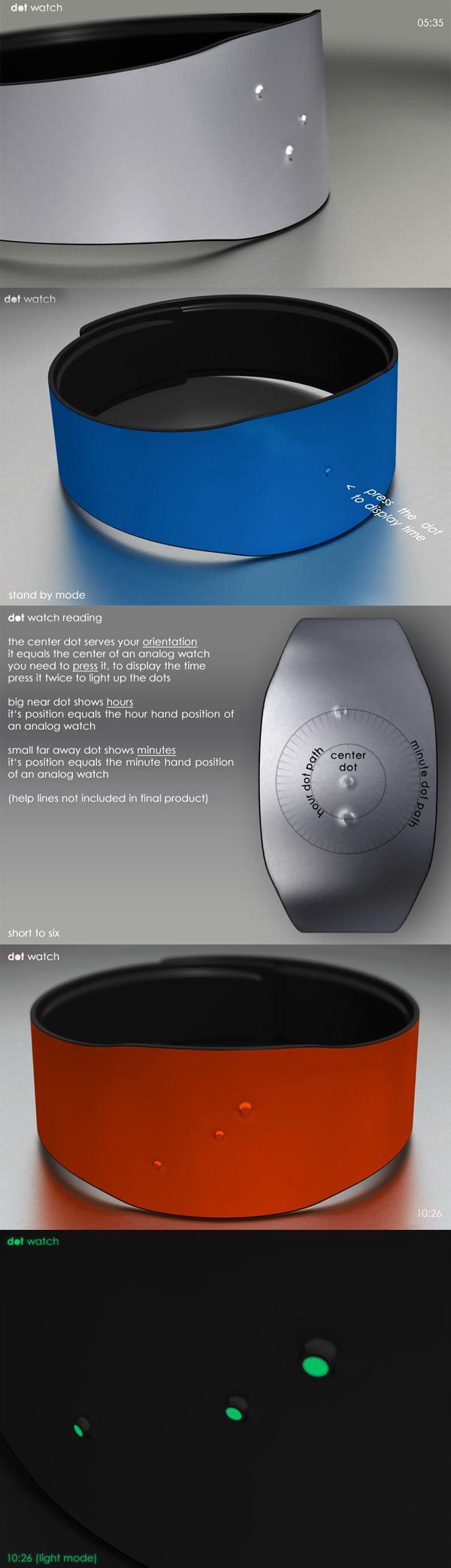 Наручные часы с минимальным дизайном