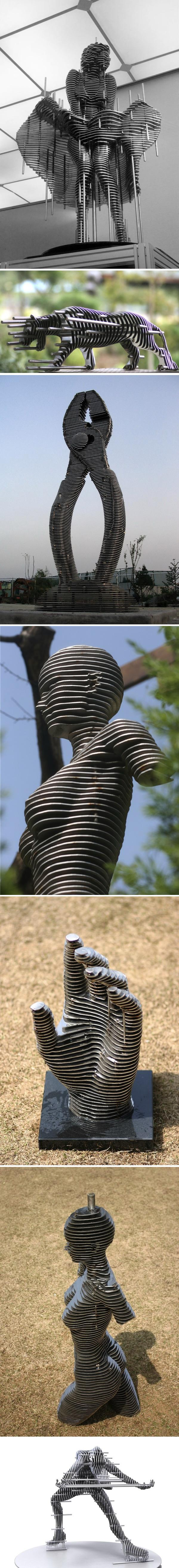 «Нарезанные» скульптуры «Sliced Metal Sculptures»