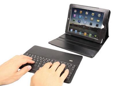 Чехол с беспроводной клавиатурой для iPad2 от «Thanko»