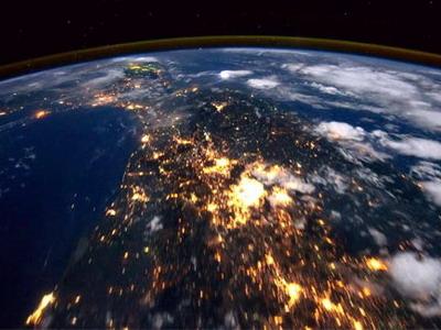 Видеосъемка поверхности земли с Международной космической станции (видео)
