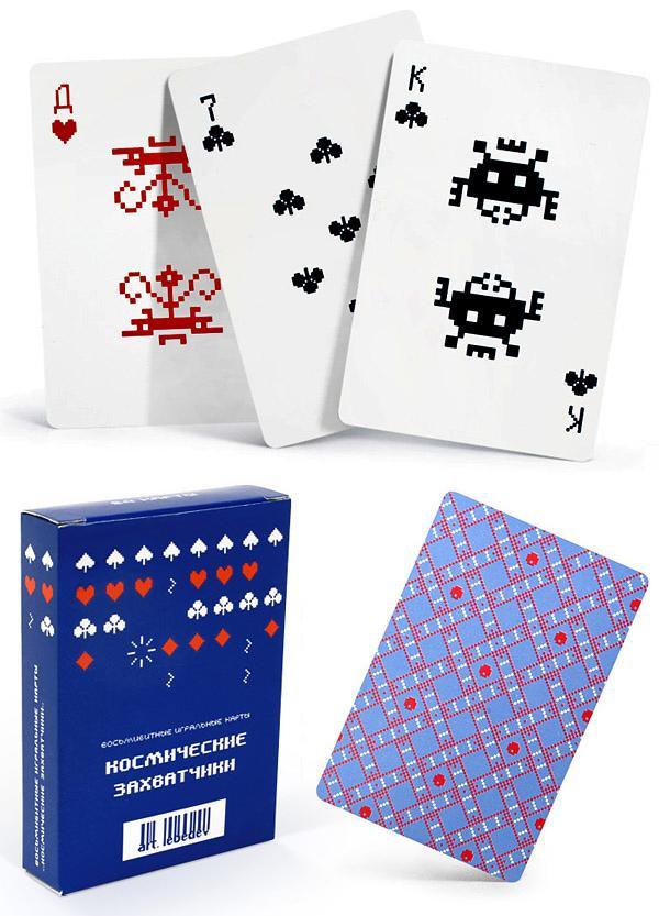 Колода игральных карт от Артемия Лебедева «Космические захватчики»