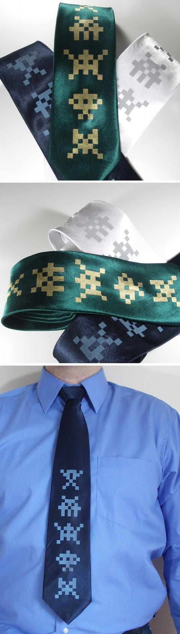Галстуки «Space Invaders Silk Ties»