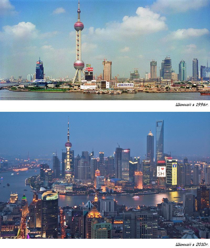 Молниеносное развитие крупнейшего города Китая