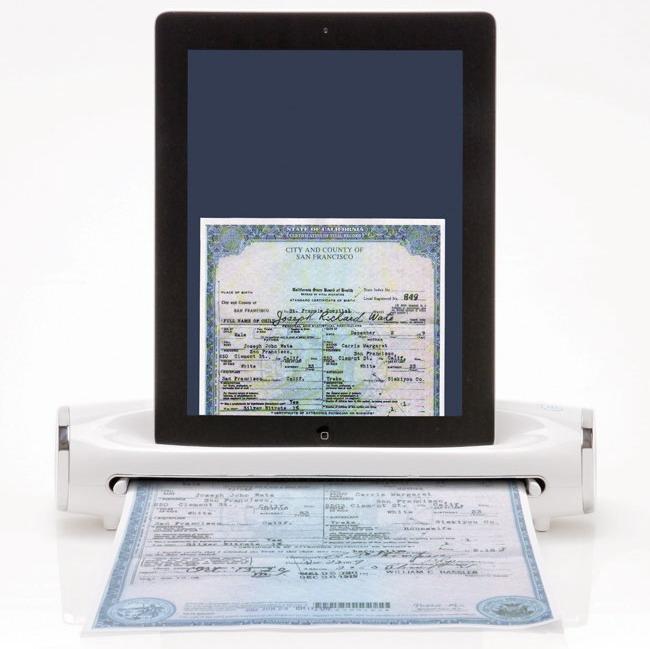 Портативная док-станция «IConvert» позволяет сканировать документы на ходу с использованием вашего IPad