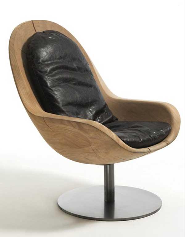 Кресло «Creus», выполненное из цельного куска кедра