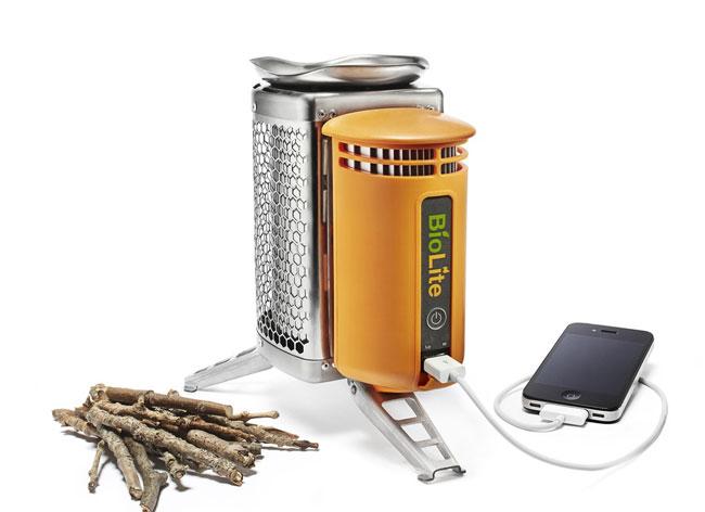 «BioLite CampStove» не только готовит пищу, но и заряжает ваш телефон (видео)