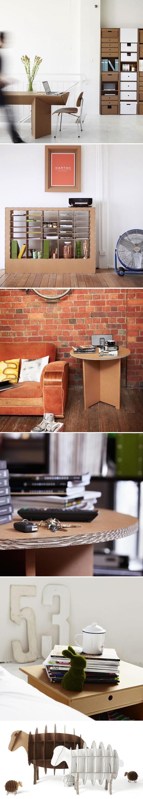 Творческая мебель от фирмы «Karton» для легкого и экологически чистого интерьера