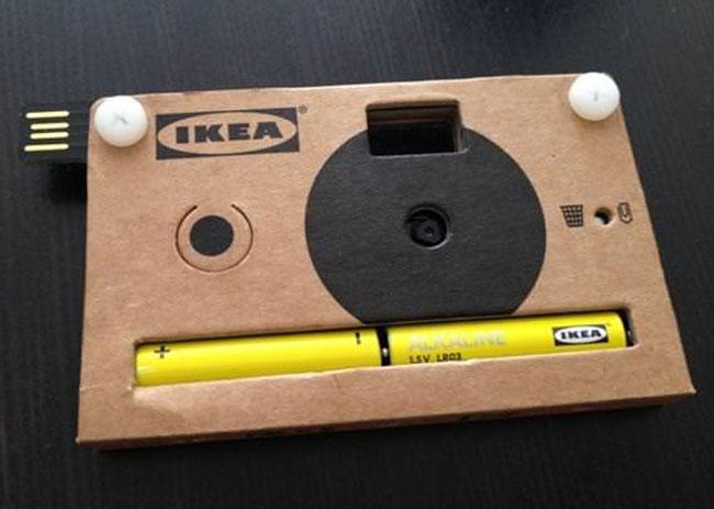 Картонная цифровая фотокамера от «IKEA»