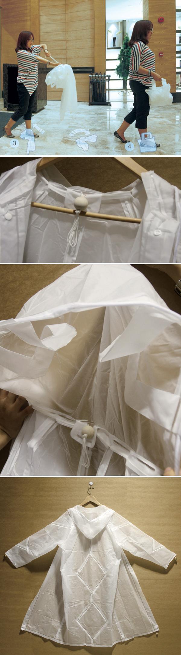 Плащ, который умеет превращаться в сумку