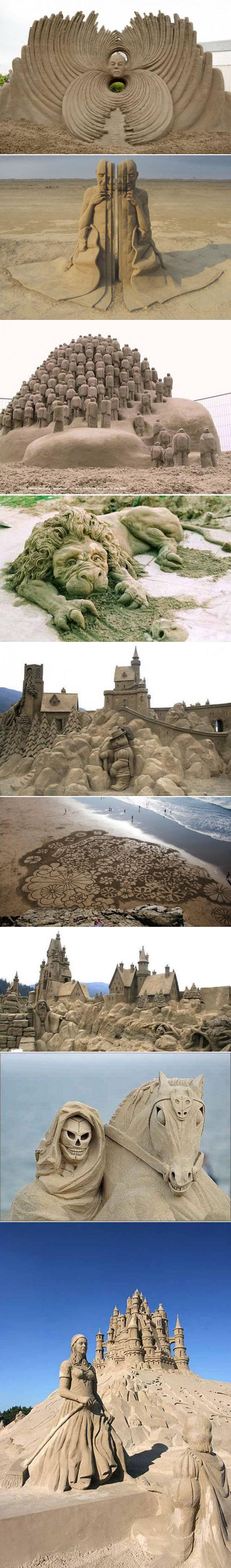 Удивительный мир скульптур из песка