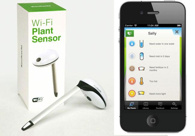 Беспроводной датчик Koubachi научит разговаривать ваши растения (видео)