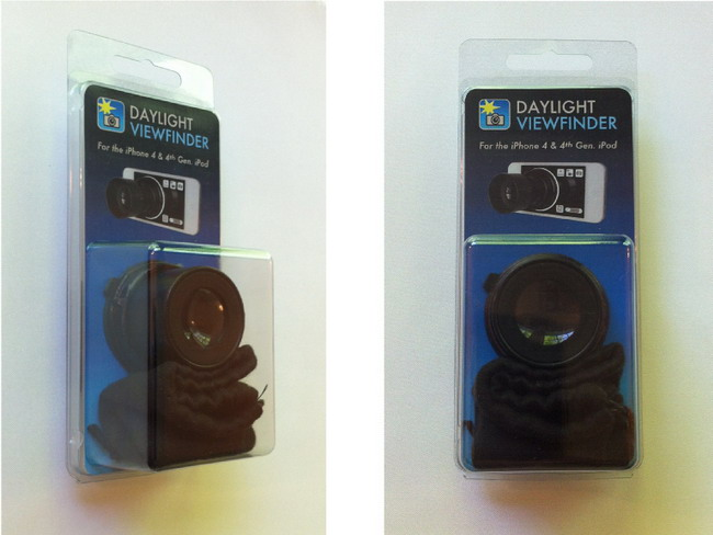 Видоискатель для фотографирования с помощью iPhone при дневном свете (видео)
