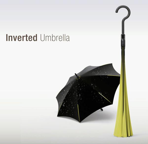 Новая концепция зонта «Outside-In Umbrella»