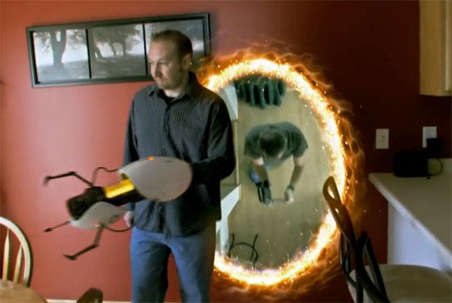 Оружие «Portal Gun» в реальной жизни (видео)