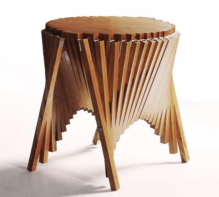 Оригинальный складной столик от дизайнера Robert van Embricqs