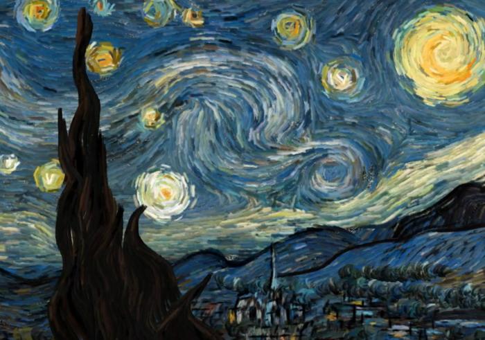 Интерактивная анимация «Звездная ночь» Винсента Ван Гога (видео)