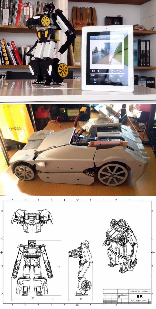 Проект робота трансформера «Brave Robotics» (видео)