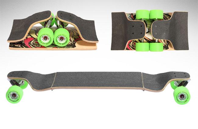 Складной скейтборд «SNAP Longboard» (видео)
