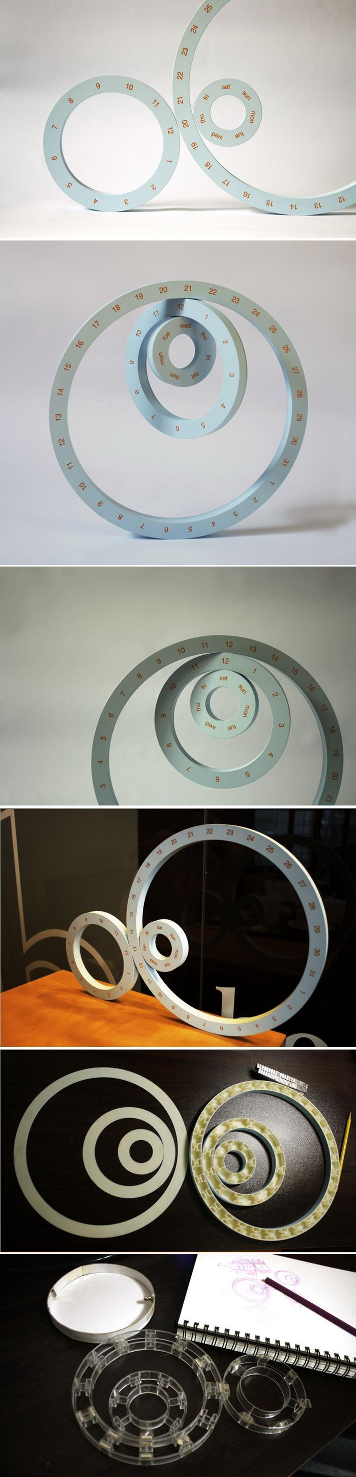 Настольный календарь «ONE» от дизайнера Jeong Yong