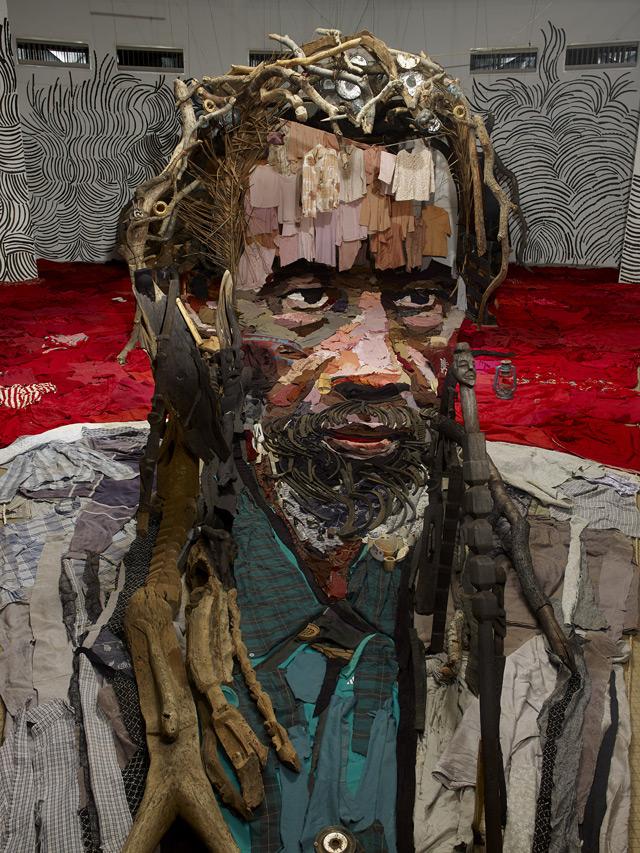 Портрет – Анаморфоз от французского художника Bernard Pras
