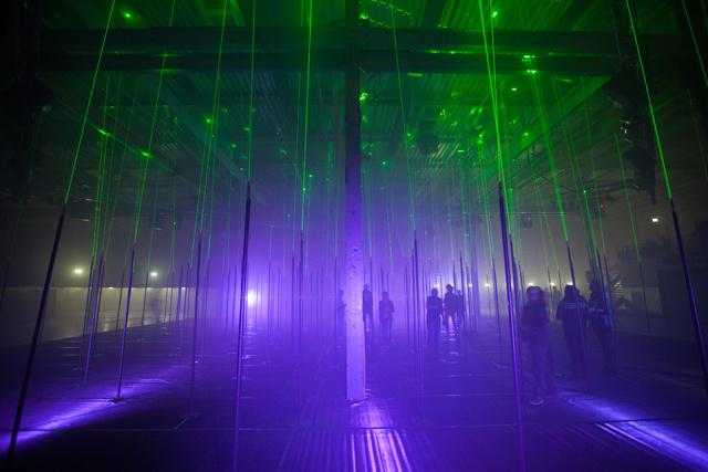 Интерактивный музыкальный лес лазеров («Laser Forest»)