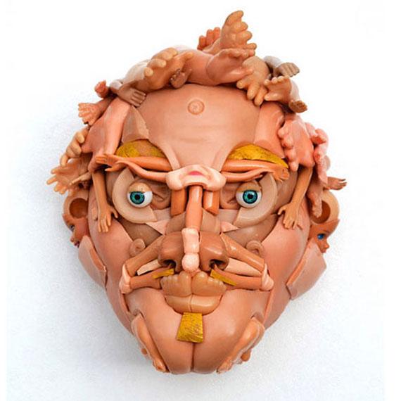 Скульптуры, созданные из игрушек и кукол от Freya Jobbins