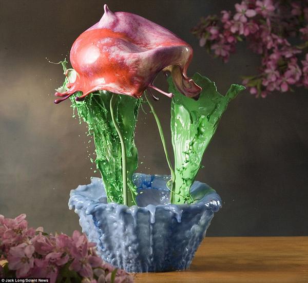 Жидкие Цветы от художника Джека Лонга (Jack Long)