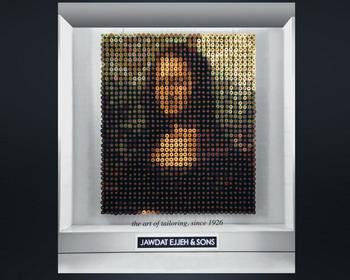 Портрет Моны Лизы, изготовленный из 1292 катушек ниток (видео)