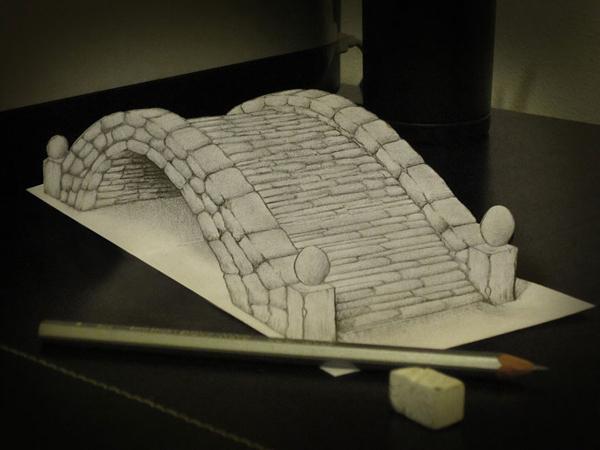 Анаморфные 3D рисунки от художника Алессандро Дидди (Alessandro Diddi)