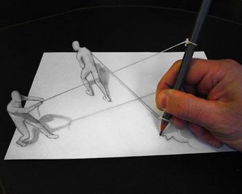 Анаморфные 3D рисунки от художника Алессандро Диддои (Alessandro Diddi)