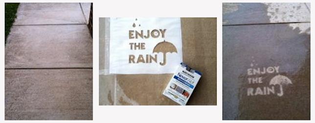 Уличное искусство, которое проявляется, когда идет дождь