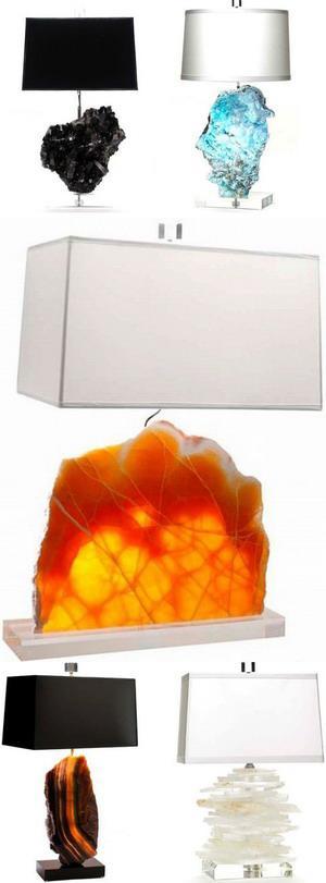 Лампы с натуральными камнями