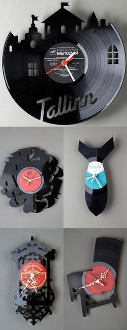 Часы из старых пластинок «RE_VINYL»