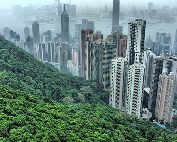 Вид с холмов в Гонконге (Hong Kong)
