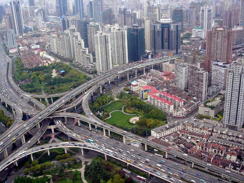 Автомобильная развязка, Шанхай, Китай